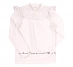 116-146см блузка для девочки с гипюром гф101 новинка