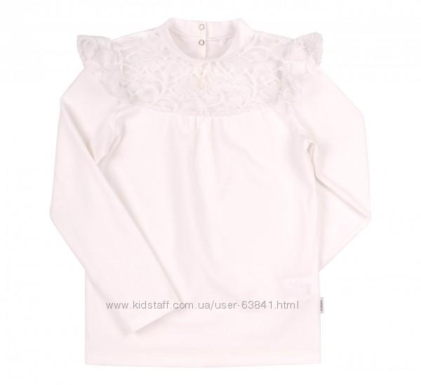 Блузка для девочки с гипюром гф101 116-146см