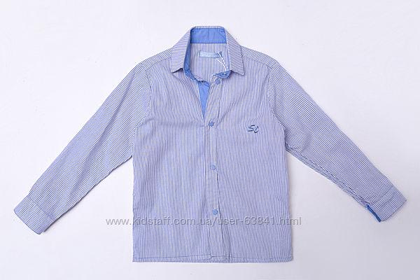 104-128см хлопковая рубашка на кнопках