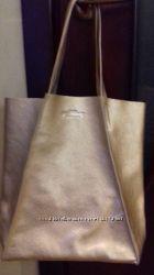 Новые сумки из натуральной кожи. Золото. Серебро.