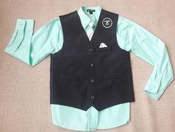 Комплект для школы George рубаха с жилеткой.