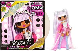 Кукла ЛОЛ Сюрприз Королева Китти LOL Surprise OMG Remix Kitty K Оригинал