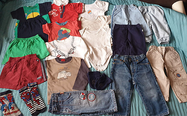 Пакет вещей мальчику на 9-18 месяцев