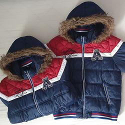 Куртки мальчикам 7-10 лет, можно двойне