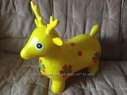 Резиновый олень игрушка-прыгун