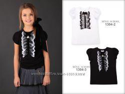 Школьная блуза ТМ Моне с кoрoтким рукавом, р. 128-152