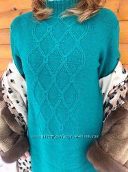 Вязаное платье из мериносовой шерсти под заказ