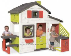 Домик игровой для друзей с чердаком и звонком Smoby 810200