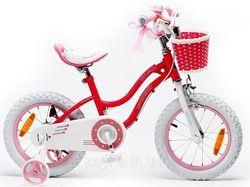Детский двухколесный Велосипед для девочки Royal Baby Stargirl Steel 16, 18
