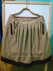 Модна юбка в складки батал