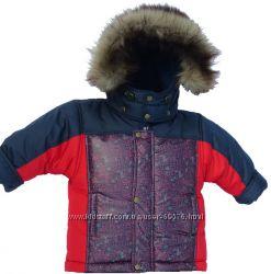 зимняя очень теплая куртка р. 110 бесплатная пересылка