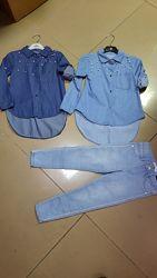 Джинсовая  рубашка  р. 104, 110, 116, 122, 128