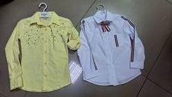 Рубашка хб на девочек р. 122, 128, 134, 140, 146, 152
