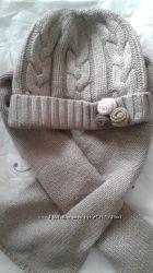 Комплект шапка и шарф Сhicco 6-9 мес