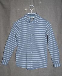 Классическая серо-голубая рубашка в полоску OshKosh