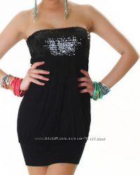 Маленькое черное платье с паетками