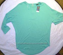 блузка- туничка мятного цвета размер 10 евро