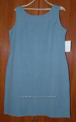 платье- футляр размер 16 евро , лен, новое распродажа