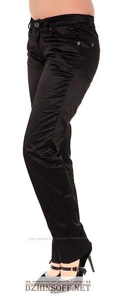 Штаны Черные Атласные 1669 размеры 25, 27, 28, 29, 30