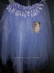 Клеш-юбочка лаванда