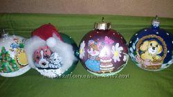 Новогодние шары из стекла