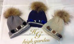 Шапка синяя High Garden Италия
