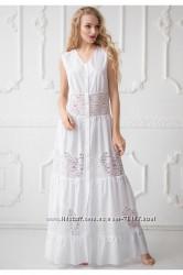 Новое белоснежное платье 48р