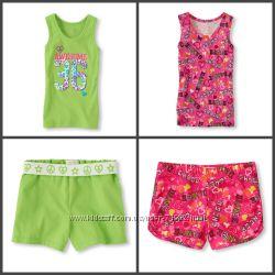 Летние комплекты моей дочки майка-шорты Gymboree и Childrensplace
