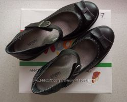 Кожаные туфли Woopy Ortopedic Турция стелька 24, 7 см.