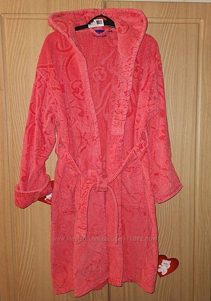 Махровый халат для девочки, отличное состояние