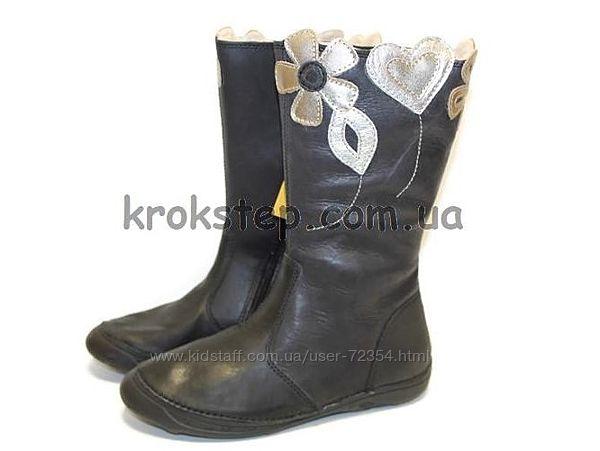 Зимние кожаные сапоги дд степ dd step