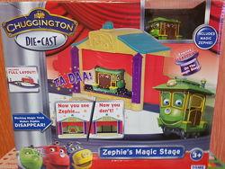 Железная дорога Chuggington паровозик Софи в цирке чаггингтон Tomy томи