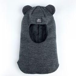 Зимний шлем темно-серый р. 50-52см