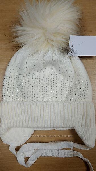 Зимние шапочки на флисе р. 50-52см