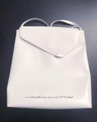 Marc Picard кожанная белая сумка