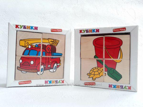 Деревянные кубики для малышей Собери картинку