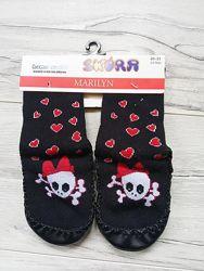 Утепленные носки-чешки с кожаной подошвой Marilyn