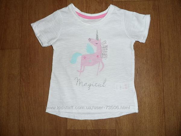 фирменная футболка Matalan 9-12мес