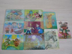 Переливные календарики с мультфильмами 1990 года