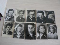 Фотооткрытки с актерами СССР 50-60-х годов