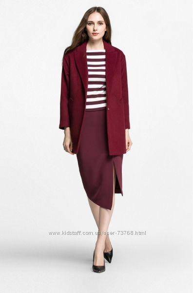 Пальто-жакет осень бренд Vero Moda марсала кокон стильное размер М
