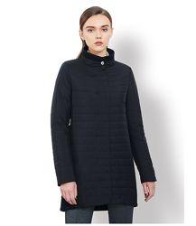 Демисезонное пальто-куртка комбинированное черное размер L- XL