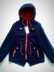 Кашемировая куртка-парка, р.146-152 см