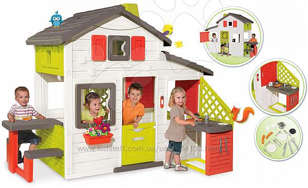 Детский игровой домик Смоби летней кухней
