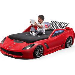 Детская машина кровать для мальчика 127х257х61см