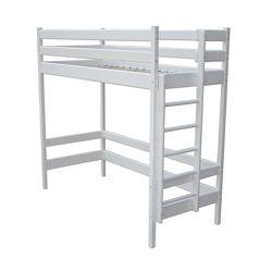 Кровать чердак для подростков белая ALPY