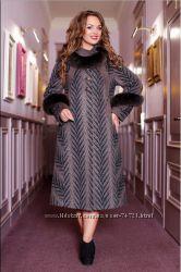 Шерстяное зимнее пальто Favoritti 54 размер - одето 2 раза
