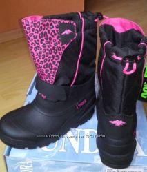 Зимние очень теплые сноубутсы Tundra Boots Kids Quebec