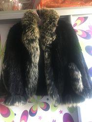 Манто из норки  вязаной