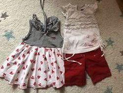 Комплект одежды на девочку на рост 80 см на лето